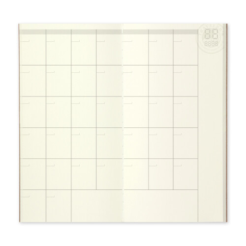 Travelers Notebook Free Diary Monthly 017