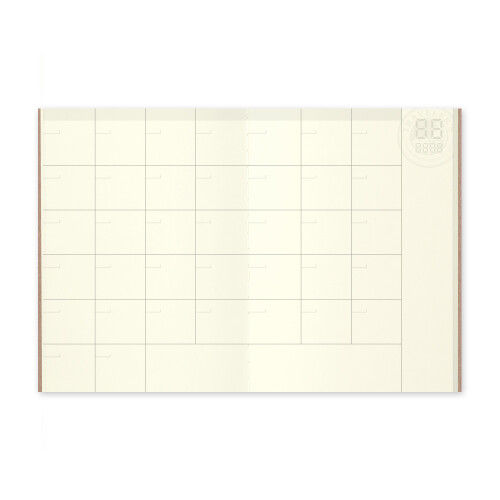Travelers Notebook Passport Size Free Diary monthly 006