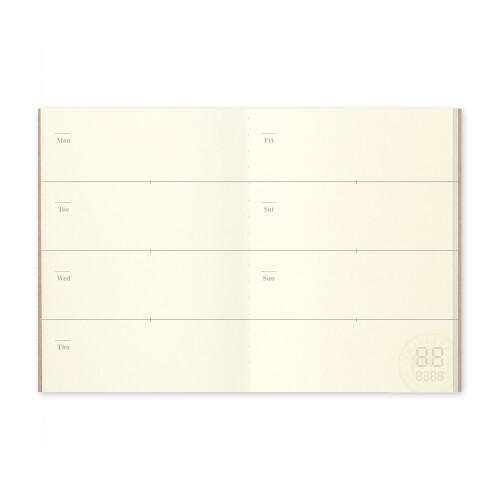 Travelers Notebook Passport Size Free Diary weekly 007