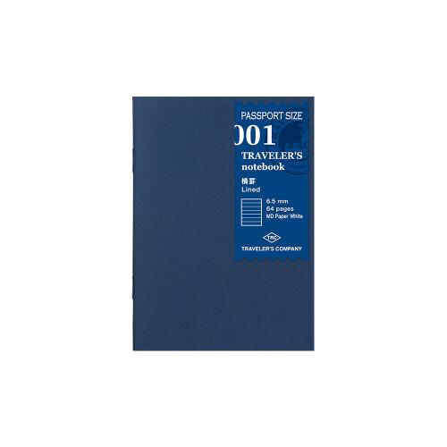Travelers Notebook Passport Size Refill liniert 001
