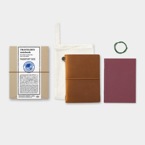 Travelers Notebook Passport Size Lederhülle hellbraun