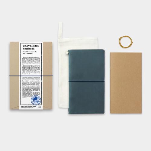 Traveler's Notebook Lederhülle blau