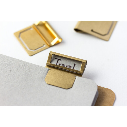 Traveler's Notebook Messing Index Clips