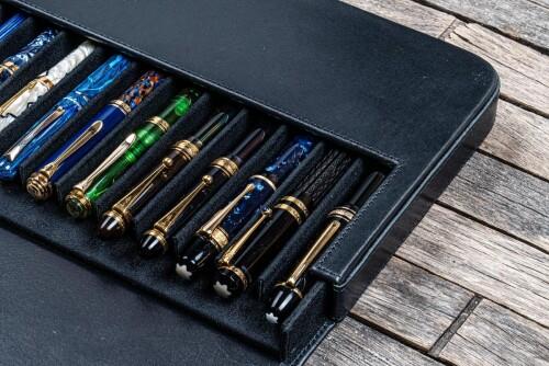 Galen Leather Magnum Opus 12er Pen Case