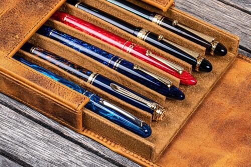 Galen Leather Magnum Opus 6er Pen Case