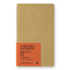 TRC Spiral Notebook A5 card file