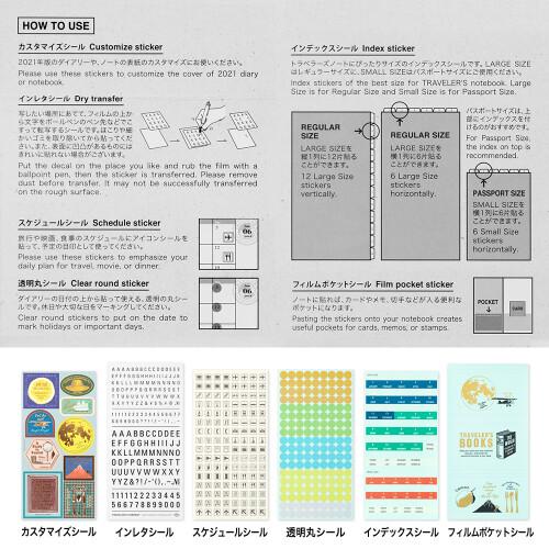 Travelers Notebook Agenda Sticker-Set